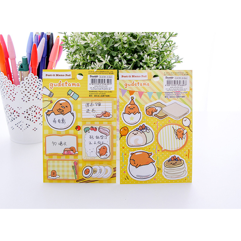 60 Pages/ Pack Cute Egg Frog Sticky Note Memo Pad School Office Supply Notepad Student Stationery