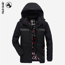 Field Base 2017 New Arrival Winter Jacket Men Thick Warm Fashion Hooded Coats Men's Windproof Windbreaker Parkas Male Zipple 3XL