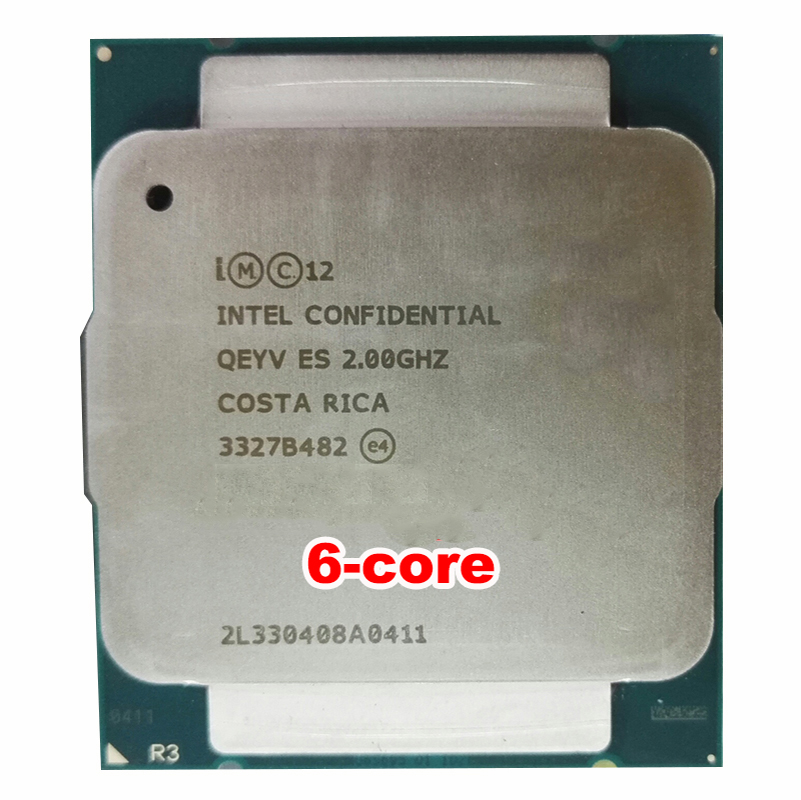 Serveur CPU INTEL XEON E5-2609 V3 E5 2609V3 QEYV ES SIX CORE 8 thread 2.0 dose pas affichage modèle échantillon d'ingénierie