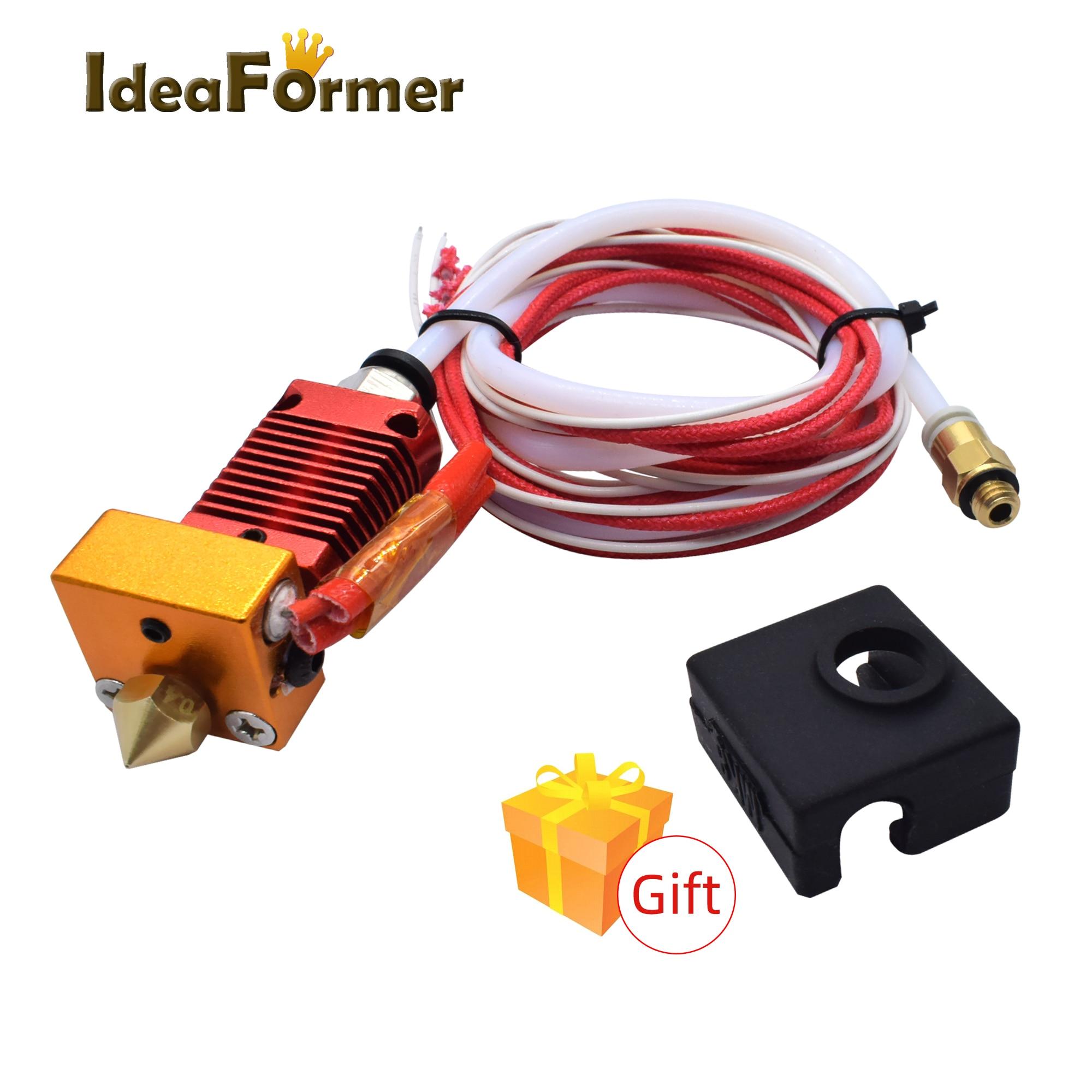 1 ensemble de pièces d'imprimante 3D CR10 Hotend kit d'extrudeuse 12 V/24 V pour Ender-3 imprimante CR10 1.75mm 0.4mm buse en aluminium pièces de bloc chauffées