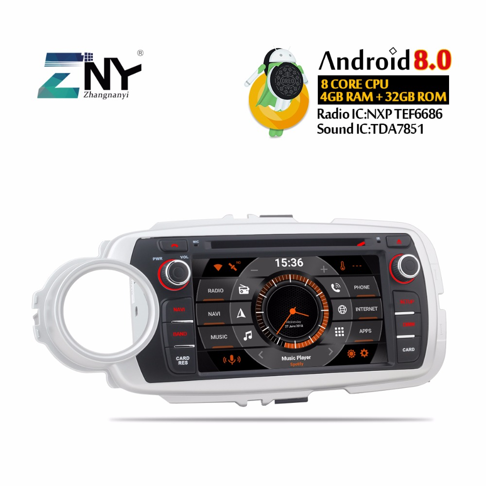 "7"" HD Android Car DVD 2 Din Auto Radio For Toyota Yaris 2012-2017 GPS Navigation Multimedia FM RDS WIFI BT Audio Video Stereo"