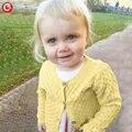 Niños del otoño Que Hace Punto de Punto Cardigan de punto Para Niñas Niños Ahueca Hacia Fuera el Suéter de Manga Larga de Algodón Para Bebé de Navidad Jumpers