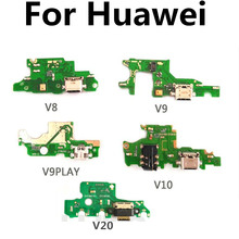 FOR Huawei honor v8 v9 v9play v10 V20 USB Charging Motherboard Dock Port Charger Board Flex Cable Plug Connector cltgxdd 5pcs 10pcs for huawei honor v10 usb charger charging connector port flex with headphone earphone audio jack port