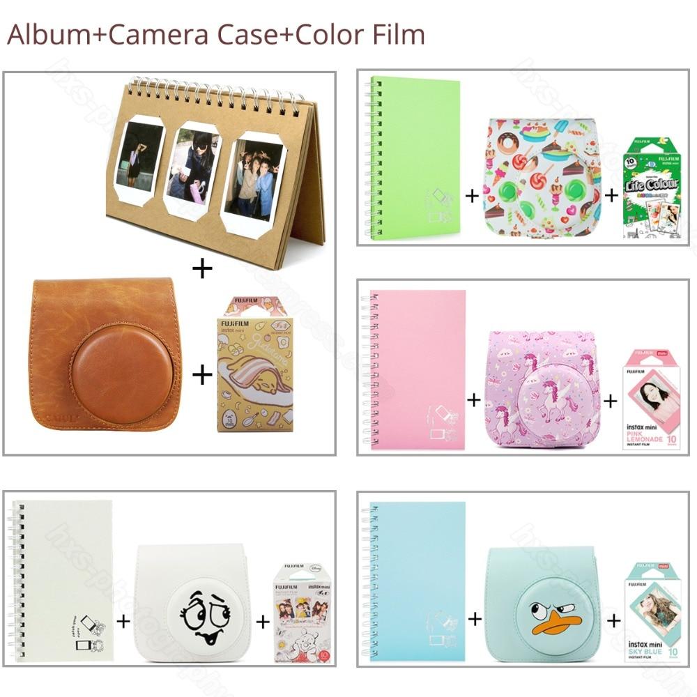 Similar Color Mini Film Album Camera Case 3 in 1 For Fujifilm Instax Mini 9 8 Film Pink Blue LifeColor Gudetama Album Protector lexington studios 24018g its a girl mini album