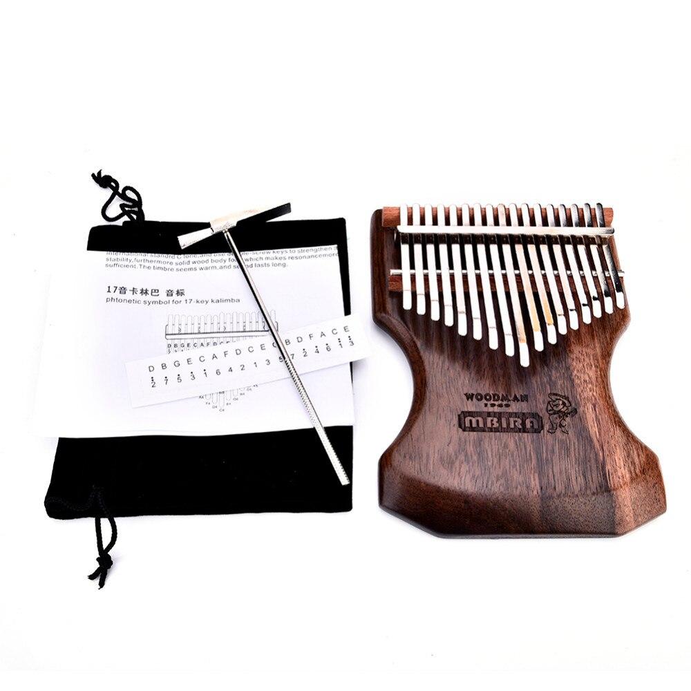 17 πλήκτρα Kalimba Calimba Mbira συμπαγές μαύρο - Μουσικά όργανα - Φωτογραφία 5
