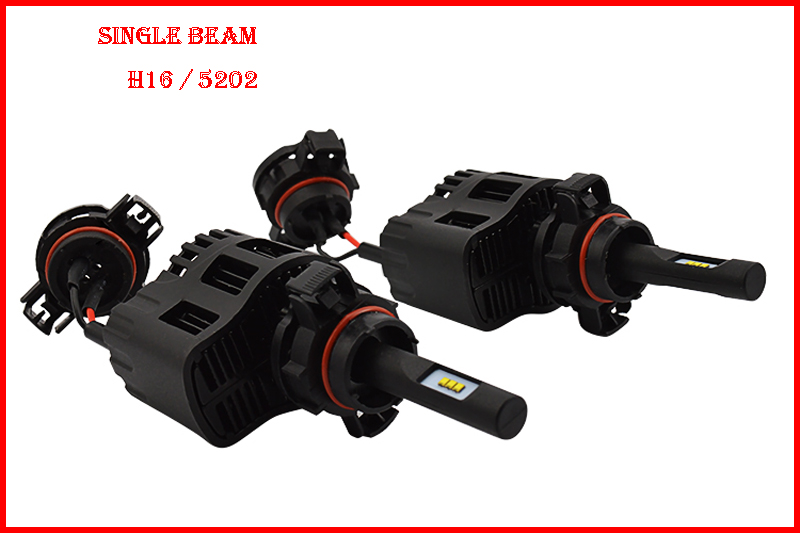 ФОТО 1 Set H16 5202(Euro) 50W 6400LM P6 LED Headlight Mini Size ALL IN ONE LUMILED LUXEON ZES 12/24V 3000K 4300K 5000K 6000K CANBUS