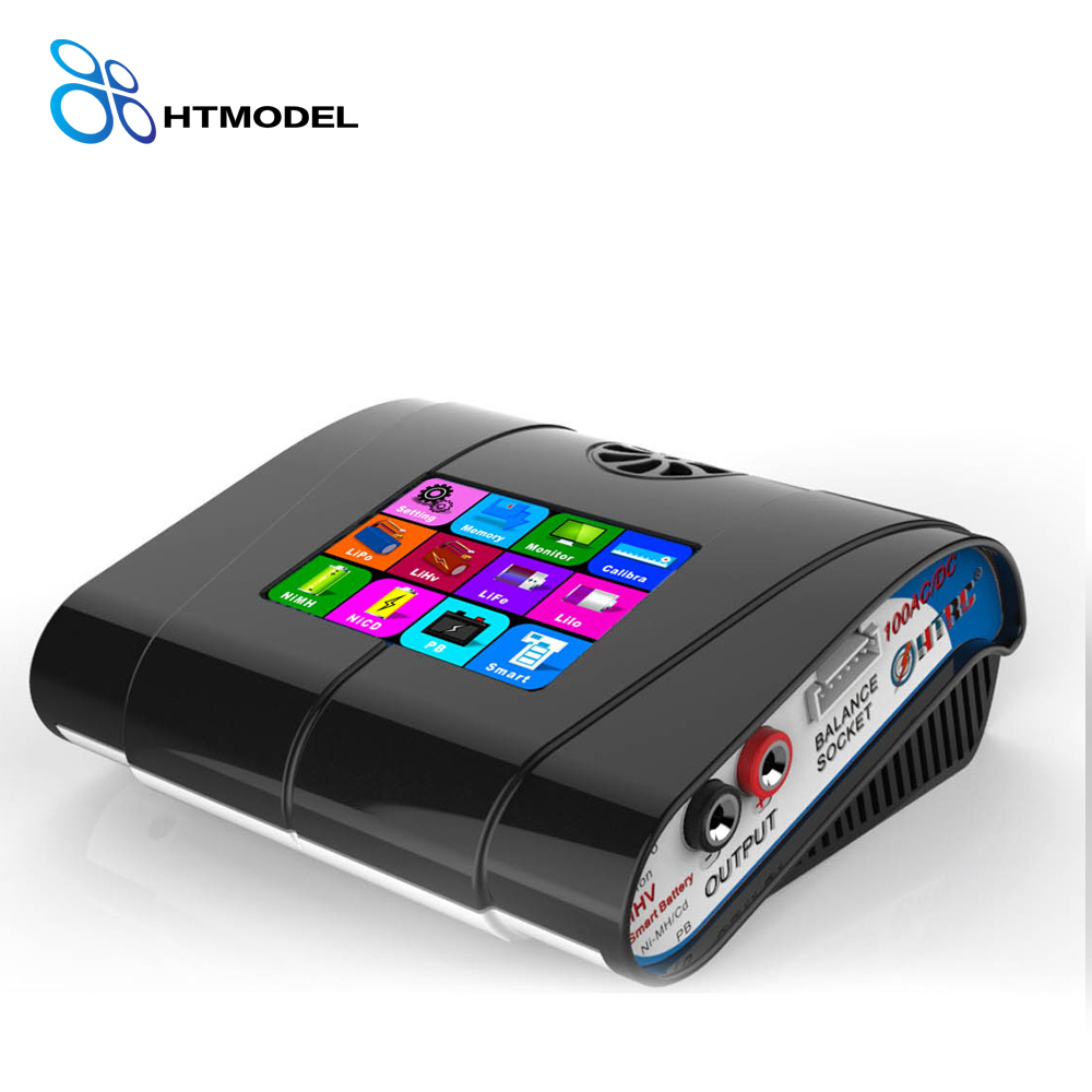 HTRC HT100 AC/DC 100W 10A 3.2 Colorful LCD Touch Screen RC Battery Balance Charger Discharger For Lion/LiPo/LiFe/LiHv Battery