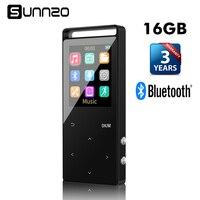 Nút cảm ứng 16 GB Bluetooth HiFi Nhạc Kỹ Thuật Số MP3 Player Lossless mini Xách Tay Audio Player với FM Radio và Pedometer