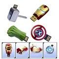 Os Vingadores capitão américa hulk de Metal Unidade Flash USB Homem De Ferro pendrive 32 GB 16 GB 8 GB 4 GB de Memória Flash Drives Vara mini presente