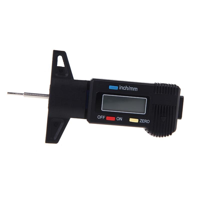 Digital Tread Depth Gauge 0-25mm Depthometer for Wheel Tread Steel Probe High Precision