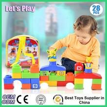 New Building Blocks DIY Animals Park Build Blocks Plastic Toys For Children Baby Kids Assembled Educational Building Blocks Set
