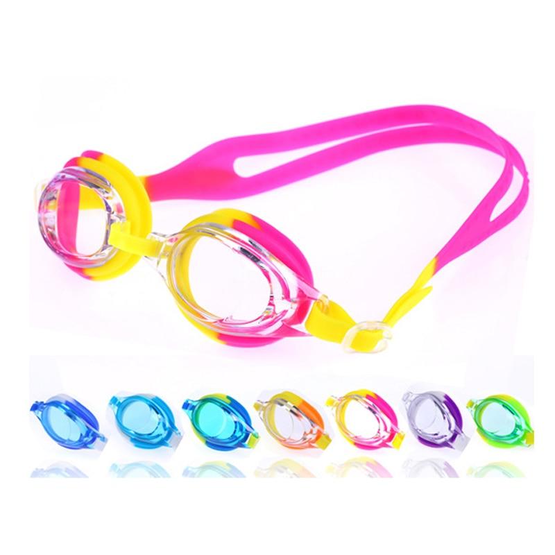 Niños Niños Deportes acuáticos Piscina de natación Antiniebla Impermeable Gafas de natación de silicona ajustables Gafas Gafas con bolsa linda