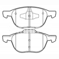 Car Front and Rear Bake Pads for Changan Mazda 3 M3 Mazda 5 M5 Volvo S40 Ford Wing Hippocampus V702010- 30683554 24137