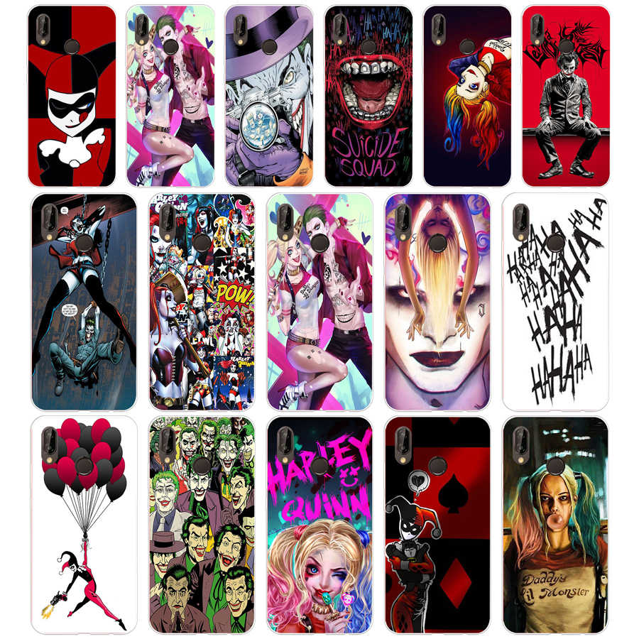 266SD Suicide Squad Joker Lembut Silicone TPU Cover Case untuk Kehormatan 10 Huawei P Mate 10 20 30 Lite Y5 Y6 prime