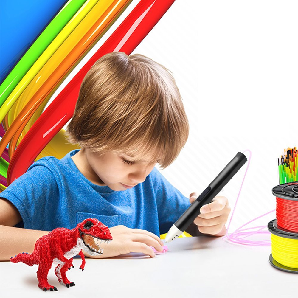 3D Printer Pen Low Temperature Protection PCL Filament 3D Pens With Smart LED Display For childrens Creative Gift to Draw