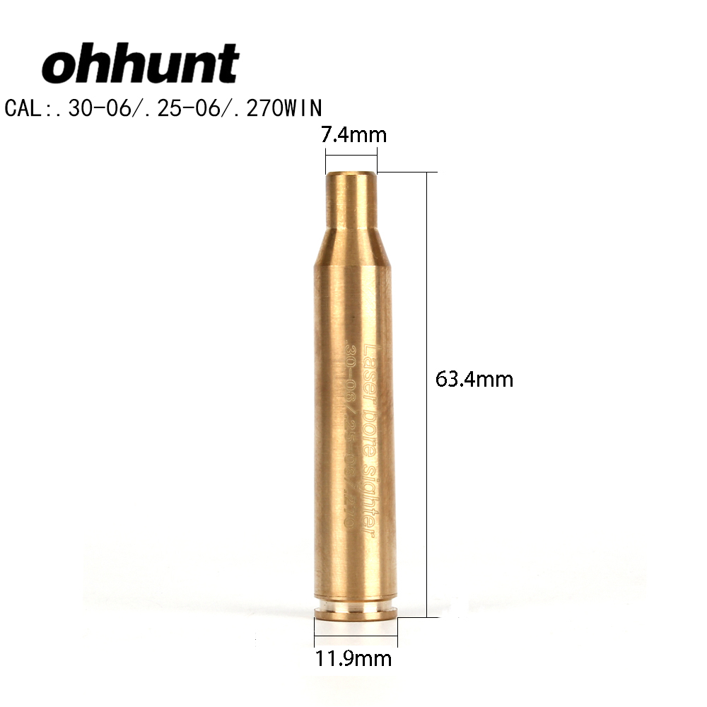 Ohhunt CAL.30-06. 25-06 270WIN Cartuccia Laser Rosso Foro Sighter Boresighter Avvistamento Sight Boresight Colimador Per Fucile Da Caccia