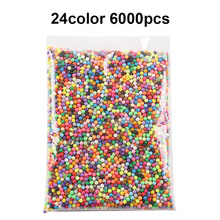 6000pcs DIY Water Spray Magic Aquarium Beads Manual 3D beads 5mm Hama 500g Refill Wholesale toys