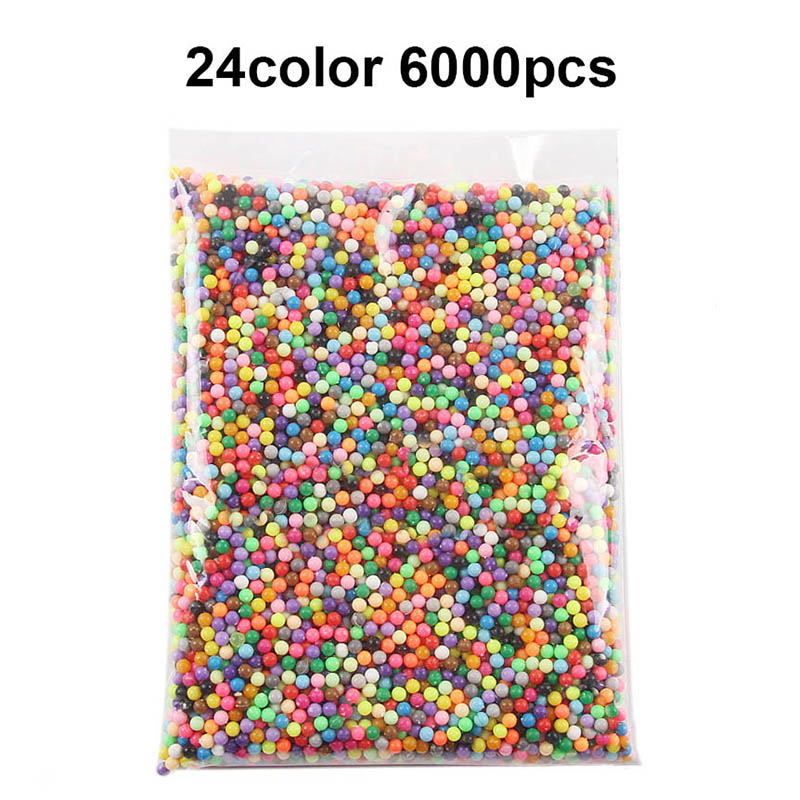6000pcs DIY Water Spray Magic Beads Manual 3D Beads 5mm Hama Beads 500g Refill Wholesale Beads Toys