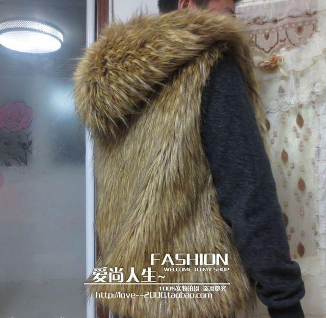 Hombres libres del envío de ropa de moda de alta calidad de imitación de la capa del chaleco con una hoodshort diseño otoño y el invierno cálido