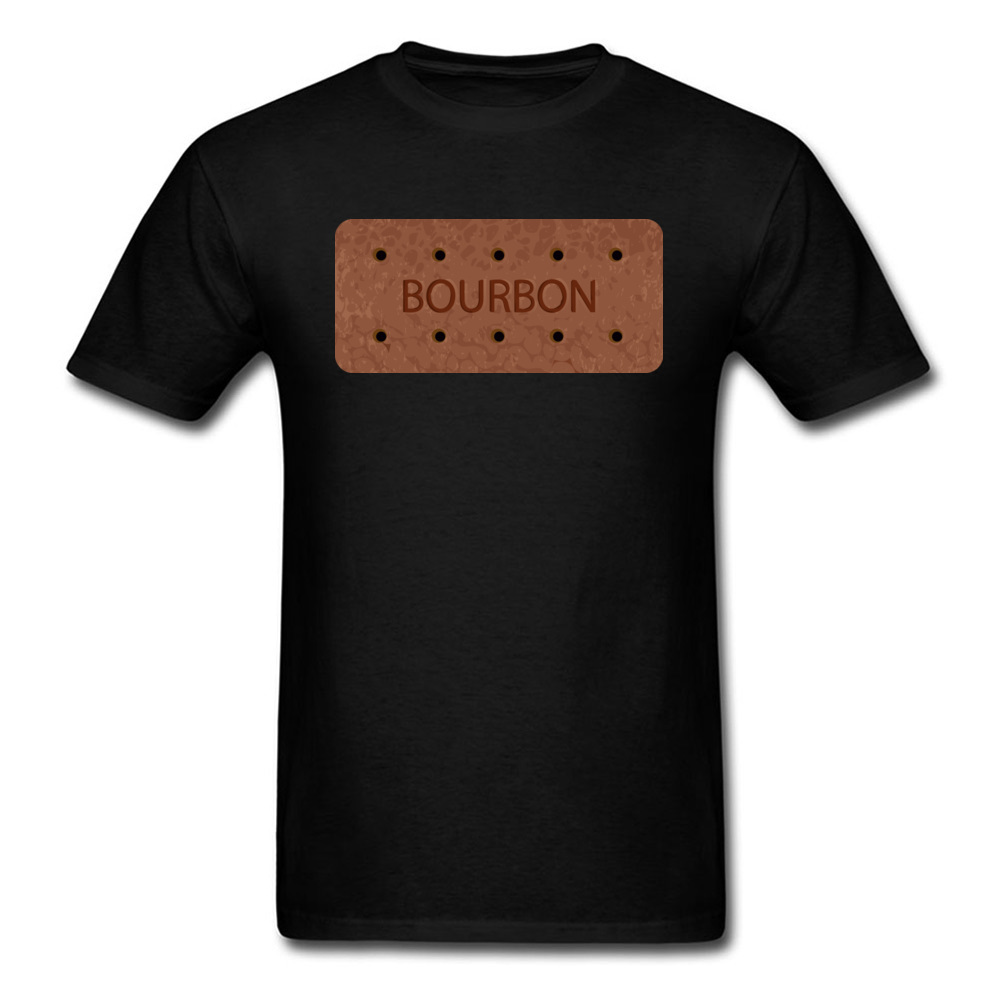 I Love Bourbon Men T-Shirt Normal Tops Shirts Pure Cotton T Shirt Drinker Tees Cotton Black Cool Father Day Clothing Wholesale