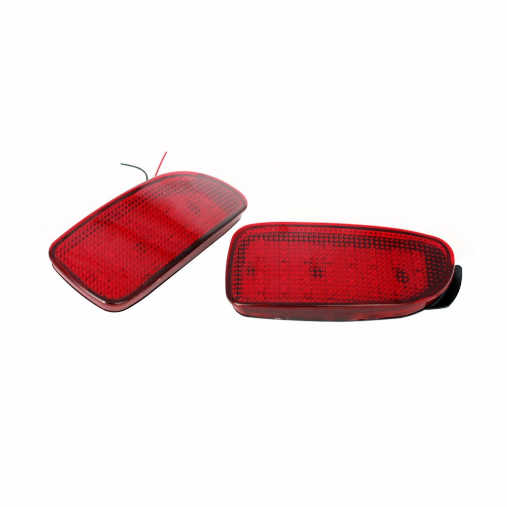 2 PCS Car Parking Warning Brake Tail LED Fog Lights Red Rear Bumper Reflector Light Reflectors Lamp for Toyota Estima 2011-2012 carking 372 1 5w 150lm 700nm 23 led red rear bumper lights for toyota rav4 red 2 pcs 12v
