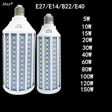 E27 B22 E40 E14 LED Lamp AC 220V Light Bulb 5W~150W 5730 2835SMD Corn Energy Saving For Home Decoration