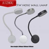 LED Hoses-Wall-Lamp Flexible Home Hotel Bedside Reading Wall Light Modern Fashion Book Lights Aluminum LEDs Bulb 5W AC 110V/220V