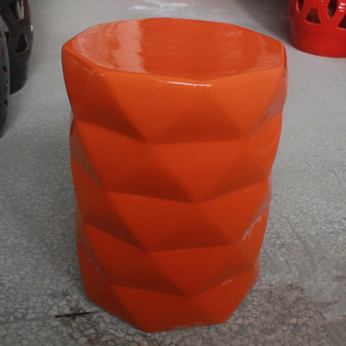 Jingdezhen Porcelain Chinese Garden Stools Ceramic Toilet Stool Jingdezhen  Bathroom Stool Dressing Orange Ceramic Garden Stool