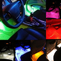 7 colors12 V 0.5 A 6 W 2x9 LED Car Vehicle Accessory Foot Atmosphere Light Lamp For Decoration 12V