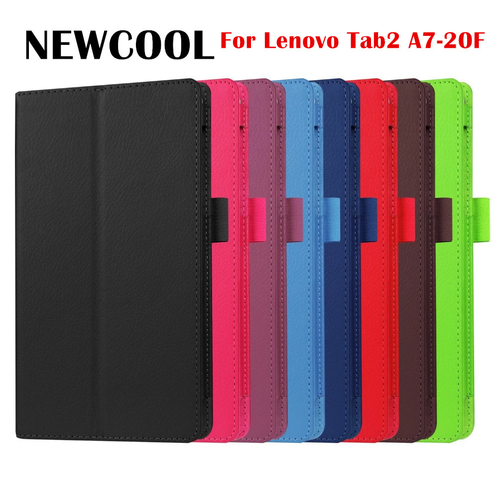 For Lenovo Tab 2 Tab2 A7-20F A7 20 A7-10f A7 10 Tablet Cases High Quality 2-Fold Litchi PU Leather Case Cover with gift for lenovo tab 2 a7 10 a7 10f a7 10f a7