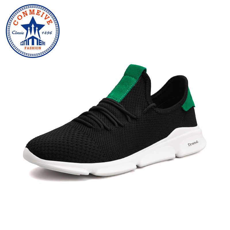 Летний светильник спортивная обувь для мужчин дышащая сетка Мужская Спортивная обувь для бега на шнуровке профессиональные износостойкие мужские кроссовки