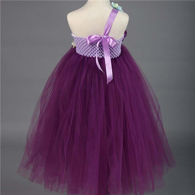 Online Shop Fancy Children Flower Girl Dress Purple Wedding Dress Ball Gown  Prom Girls Party Dresses Kids Clothes Vestido Infantil W010  d8c1b0d53b01