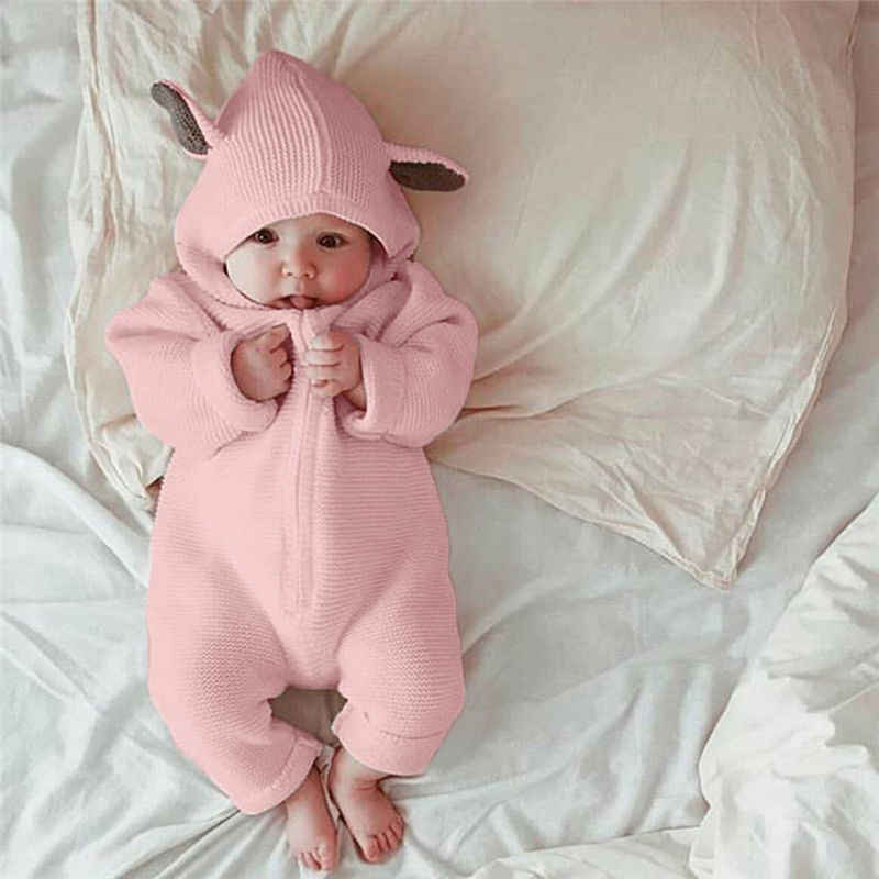 87dbe4e2b 2019 Newborn Infant Baby Girl Boy Clothes Cute 3D Bunny Ear Romper Jumpsuit  Playsuit Autumn Winter Warm Bebes Rompers One Piece