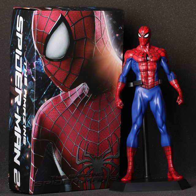 XINDUPLAN Marvel Shield Crazy toys Avengers Spider Man Spider-man Super hero Action Figure Toys 24cm PVC Collection Model 0999 海润阳光·伴随宝宝成长的经典故事·青蛙王子
