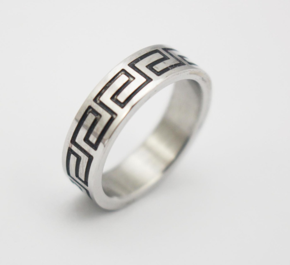 Top Quality Men or Women Jewelry Stainless Steel Ring Black ancient Chinese prose Fashion Rings Party Band