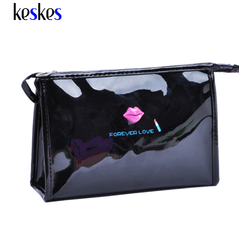 High Quality Patent Leather Makeup Bag Make Up Bags Female Zipper Cosmetic Bag Lady Cosmetic Cases Travel Organizer Bag C2120MF