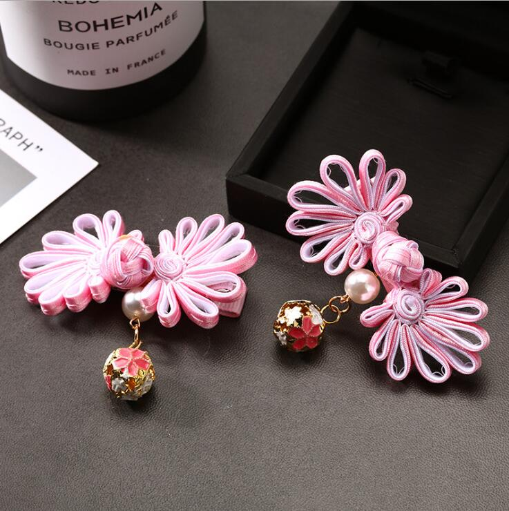1 pair princess Ribbon Bows Clips Chinese Style Girls crown Hair Clip Kids Barrettes Accessories headwear Cute Hairpin P43 in Hair Accessories from Mother Kids