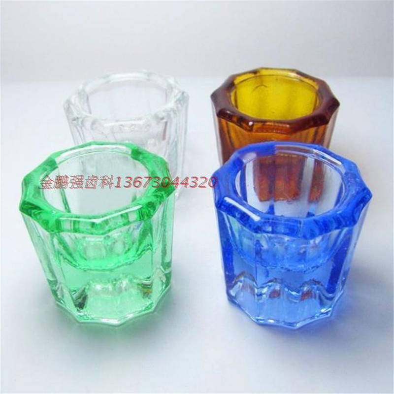 A0186 12PCS Dental glass dappen dishes household Octagonal cups Reconcile cup Mixing Bowls Dental Materials Cups