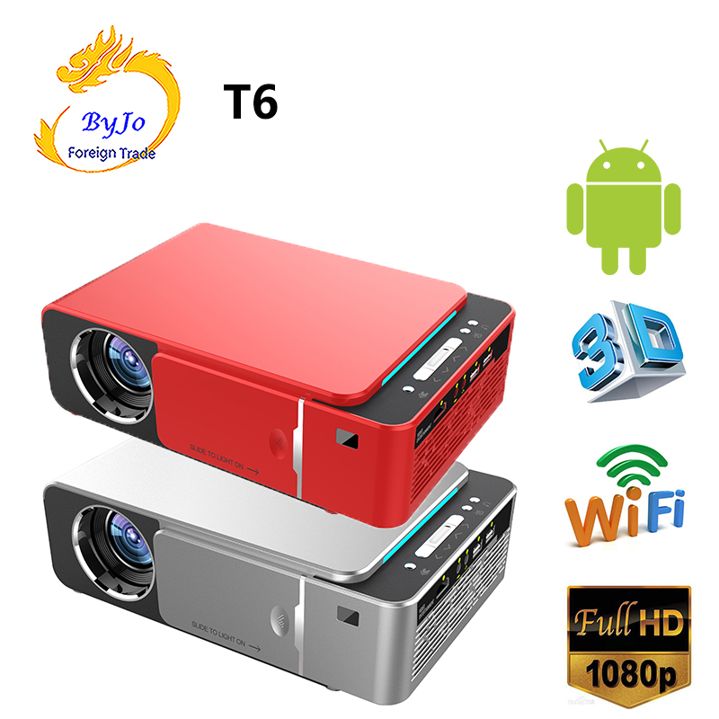 UNIC T6 LED Projector 3500 Lumens HDMI USB FULL HD 1080p WIFI Bluetooth Android 7.1 Cinema Proyector Beamer 3D Home Theater(China)