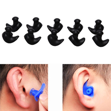 Hot 5 Pair Waterproof  Soft Silicone Ear Plugs Environmental Dust-Proof Earplugs Diving Water Sports Swimming Tools