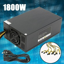 2017 High Quality 1800W Miner Mining Dedicated Power Supply For Ethereum Coin A6 A7 S7 S9 For L3 R4 New Power Supply For BTC