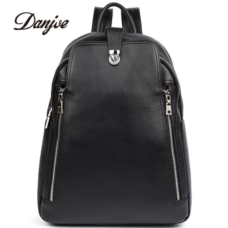 d35fde9e0d DANJUE Men Bag Genuine Leather Men s Backpack Soft Leather Travel Bags Men  Hight Quality Leather Business