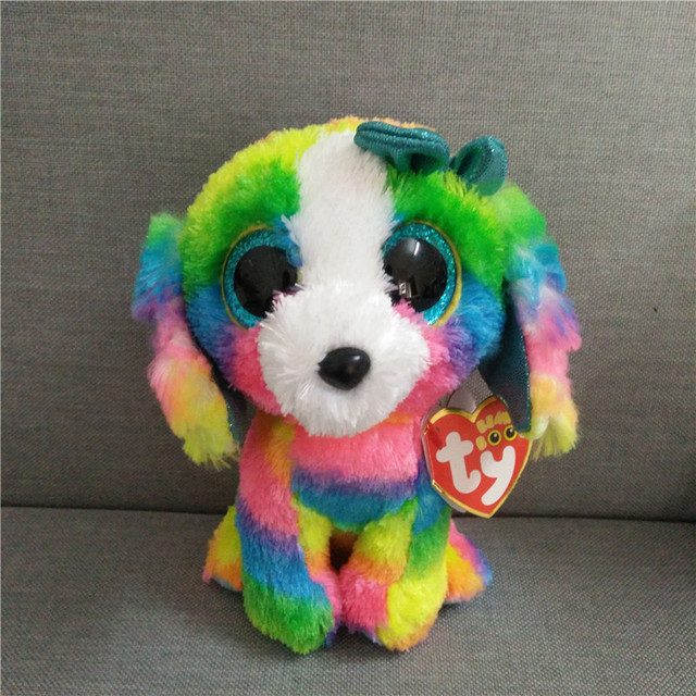 200ab6eb6c6 TY Beanie Boos Multicolor Poodle Beanie Babies Plush Stuffed Doll Toy  Collectible Soft Big Eyes Plush Toys