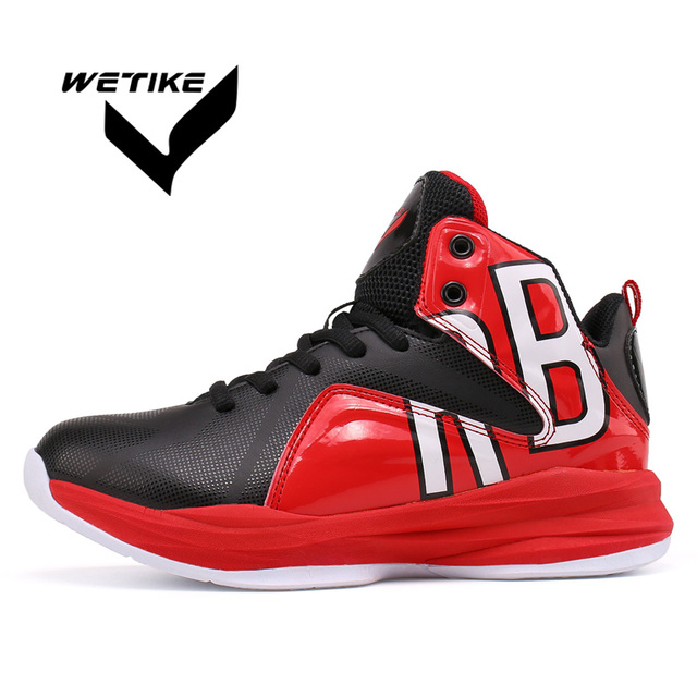 WETIKE Boy s Basketball Shoes High Ankle Outdoor Sports Shoes For Kid  Newest Design Indoor Anti-slip Sneakers Size32-40 Kobe 274ac1026