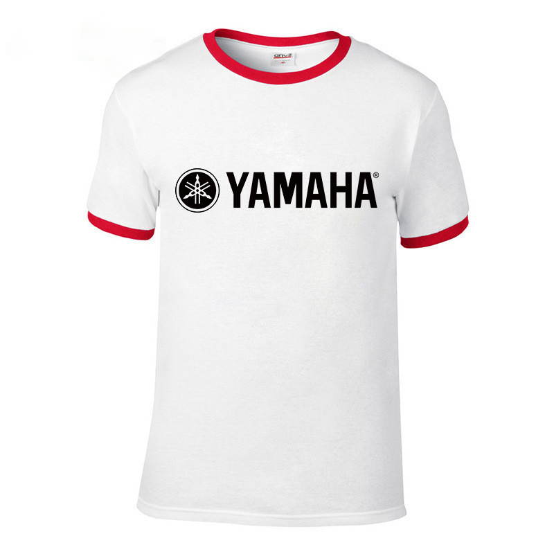 89db2ee9 Cool Fashion YAMAHA logo T shirt Brand Clothing Letter Print tees Short  Sleeve High Quality Raglan T Shirt for women and men top-in T-Shirts from  Men's ...