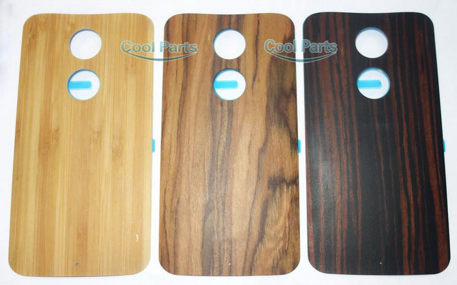 Original New Bamboo Wood Rear Battery Door Back Cover With Sticker Adhesive For Motorola Moto X 2nd Gen X2 2014 Replacement