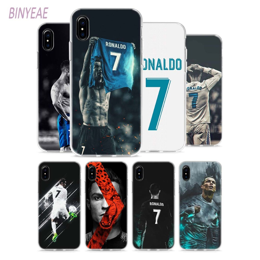 d207cac0ba1b BINYEAE CR7 Clear Soft TPU Phone Cases for Apple iPhone X 8 7 6 6 s Plus 5  5S SE
