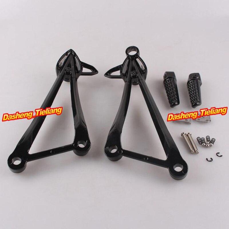 For Kawasaki Ninja ZX6R 09-11// ZX10R 08-10 Rear Passenger Foot Peg Bracket Black