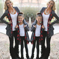 Family Outfits Clothing Mother Daughter Cardigan Outwear Jacket Fasion Clothes Warm Jackets Sudaderas Mujer