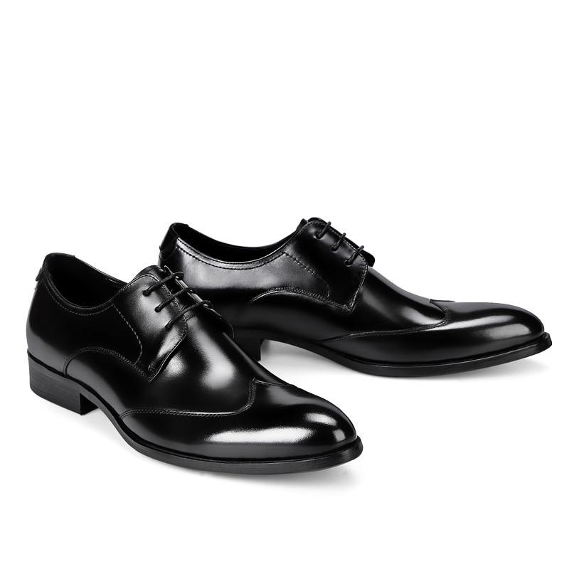 Hommes Homme Véritable Cuir Taille British La Noir Designer Rouge Qualité New Robe Haute Chaussures vin En Plus x7IqzCw
